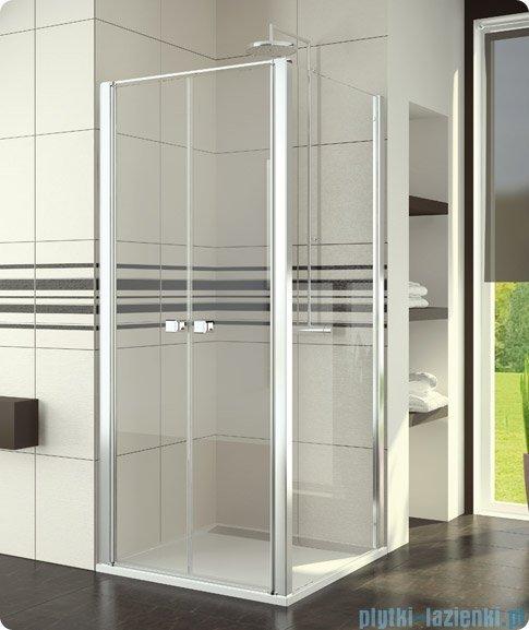 SanSwiss Swing Line SLT2 Ścianka boczna 90cm profil biały SLT209000407