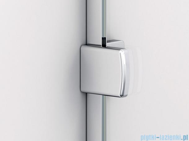 Sanswiss Melia ME13 Drzwi ze ścianką w linii z uchwytami i profilem prawe do 120cm cieniowane czarne ME13ADSM11055
