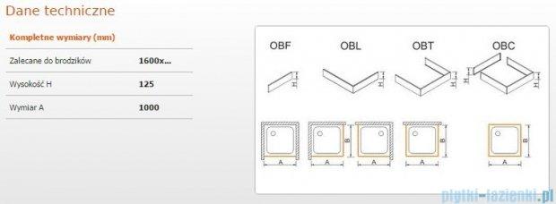 Sanplast Obudowa frontowa do brodzika OBF 160x12,5 cm 625-401-0390-01-000