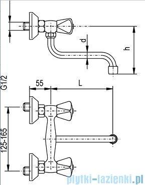 KFA STANDARD Bateria zlewozmywakowa ścienna 300-450-00