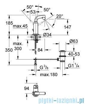 Grohe Atrio jednouchwytowa bateria bidetowa DN 15 chrom 32134001