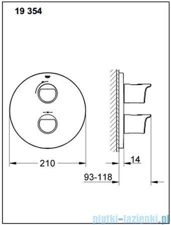Grohe Grohtherm 2000 NEW bateria termostatyczna do obsługi jednego wyjścia wody 19354001