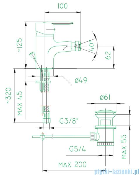 KFA Cyrkon bateria bidetowa, kolor decorum  587-035-00