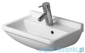 Duravit Starck 3 umywalka z przelewem z półką na baterię 450x320 mm 075045 00 00