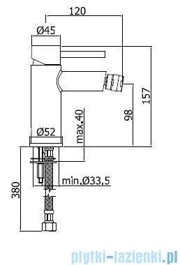 Paffoni Bateria bidetowa Stick chrom mat SK135HMC
