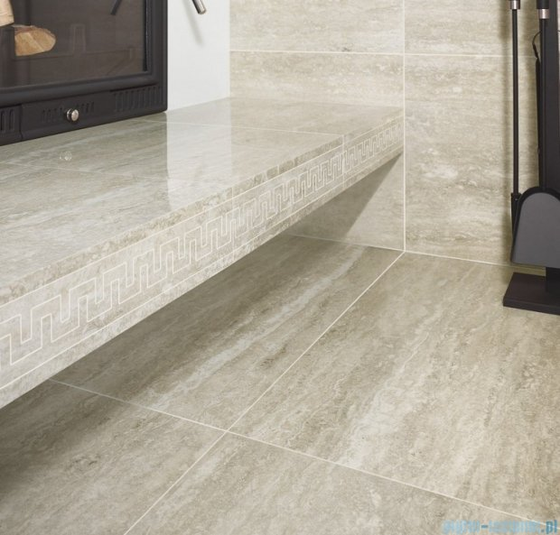 My Way Travertino Silver stopnica 29,8x59,8
