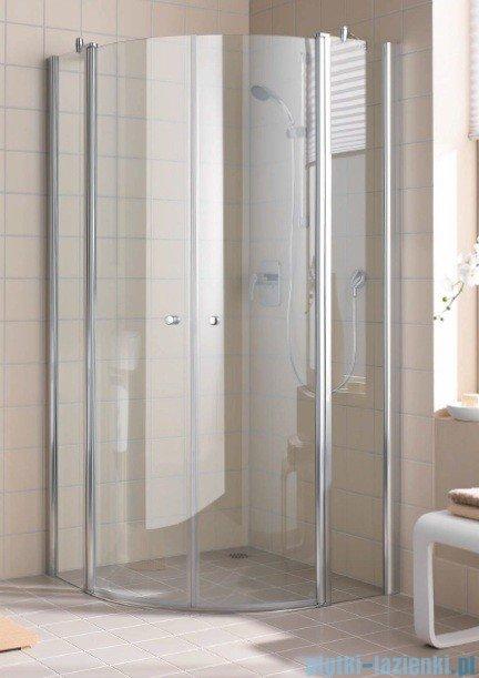Kermi Atea Kabina ćwierćkolista, szkło przezroczyste, profile białe 120x120cm ATP55120182AK