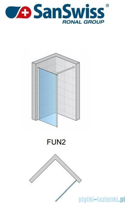 SanSwiss Fun Fun2 Ścianka jednoczęściowa 90cm profil połysk FUN209005007