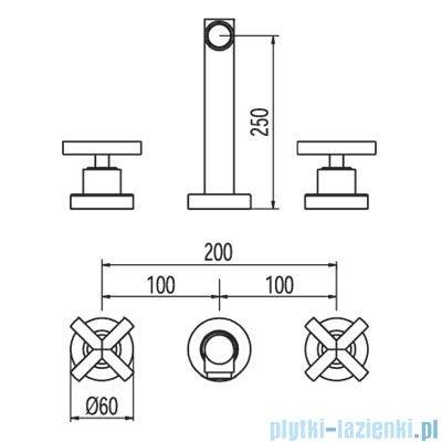 Tres Bimax-Tres Bateria umywalkowa podtynkowa kolor chrom 1.63.151