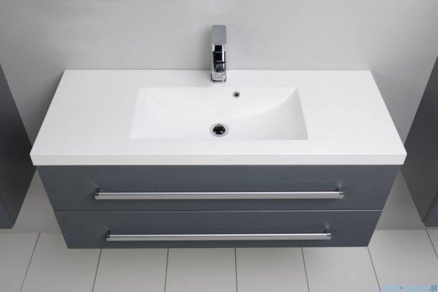 Antado Variete szafka z umywalką, wisząca z dwiema szufladami 100x39x40 szary połysk FM-C-442/10/2-K917 + UMMC-1000X390