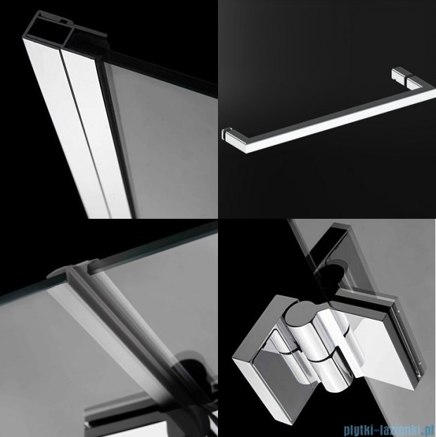 Radaway Carena DWJ Drzwi prysznicowe 120 lewe szkło przejrzyste + brodzik Doros D 34332-01-01NL