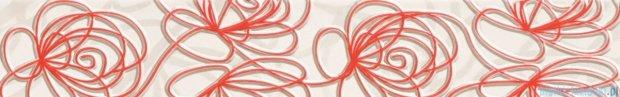 Tubądzin Wave modern red listwa ścienna 7,1x44,8