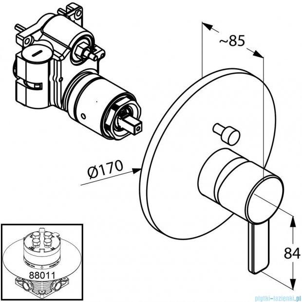 Kludi Zenta Podtynkowa bateria wannowo-natryskowa chrom 386570575