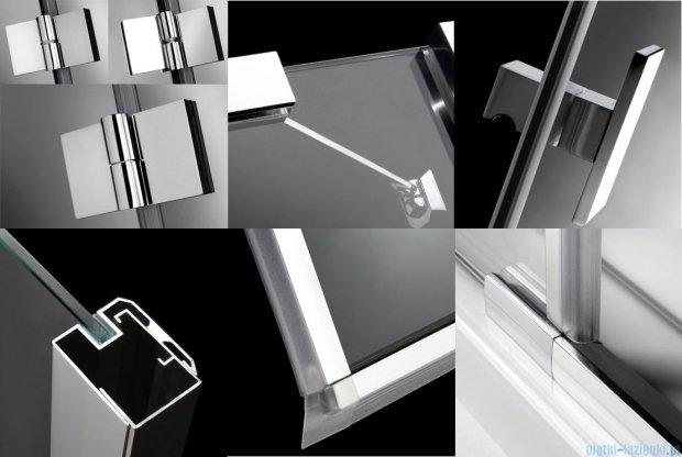 Radaway Essenza KDJ kabina 80x80 lewa szkło przejrzyste + brodzik Delos C + syfon 32812-01-01NL
