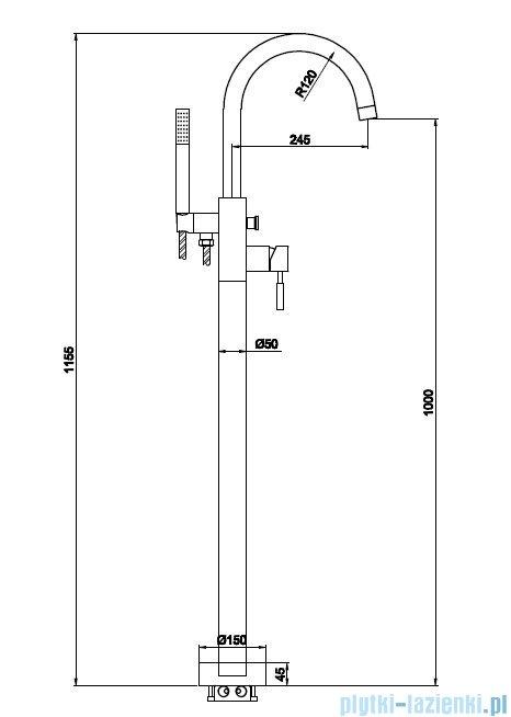 Kohlman Roxin bateria wannowa stojąca QF1165R