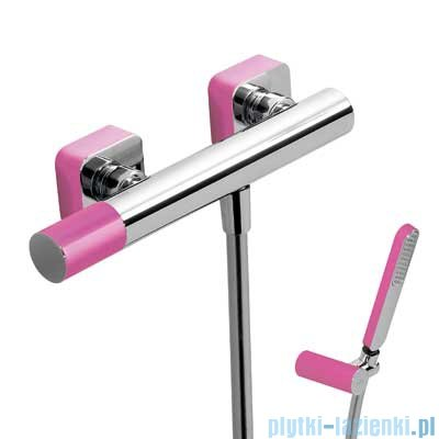 Tres Loft Colors Bateria jednouchwytowa natryskowa kolor różowy 200.167.01.FU