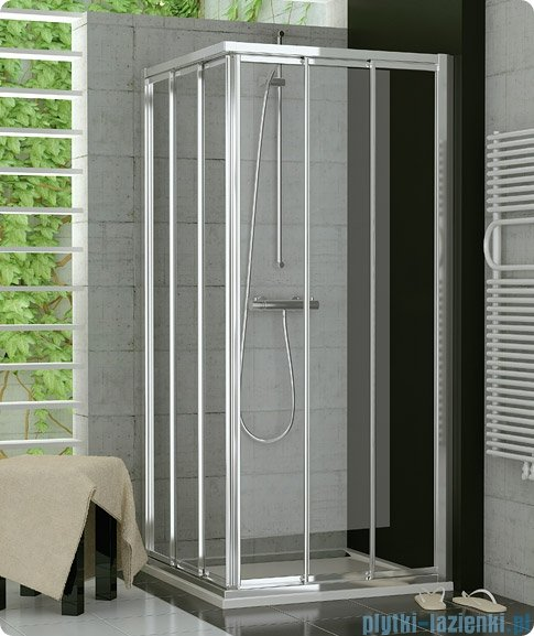 SanSwiss Top-Line TOE3 Wejście narożne 3-częściowe 120cm profil srebrny Prawe TOE3D12000107