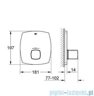 Grohe Grandera bateria centralna z termostatem chrom/złoty 19941IG0