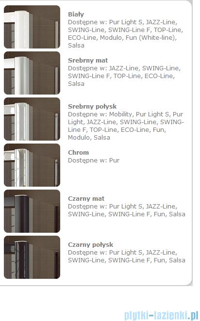 SanSwiss Swing Line F SLF2 Drzwi składane 140cm profil srebrny SLF214000107