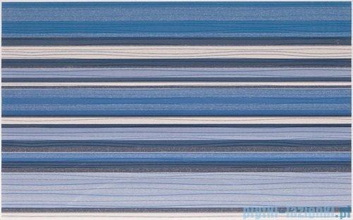 Paradyż Acapulco blue paski inserto ścienne 25x40