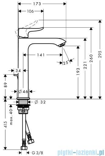Hansgrohe Metris Jednouchwytowa bateria umywalkowa 200 DN15 do misek umywalkowych 31183000