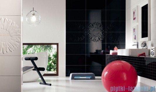 Mozaika ścienna prostokątna Tubądzin Colour Black 32,7x29,5