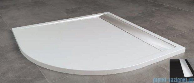 SanSwiss Ila Wir Brodzik półokrągły 90x90cm kolor czarny/połysk WIR5509050154