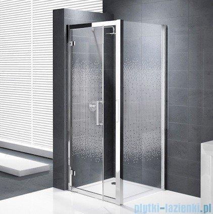 Novellini Elysium Kuadra G Drzwi obrotowe 84cm szkło przejrzyste profil chrom KUADG84-1K