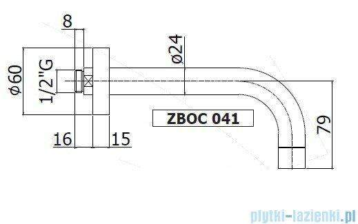 Paffoni  Wylewka ścienna L=245 mm Stick ZBOC042