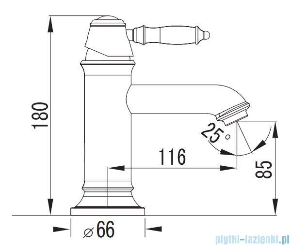 Art Platino Nikolas bateria umywalkowa jednouchwytowa chrom NIK-BUN.011C