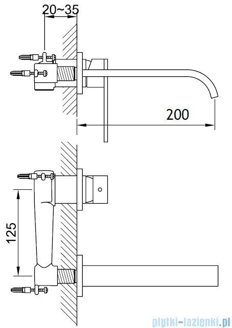 Kohlman Nexen-S Podtynkowa bateria umywalkowa SQW183U