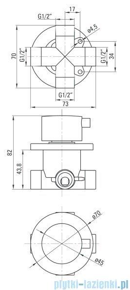 Deante Multi-System przełącznik funkcji natrysku okrągły chrom NAC 00BP