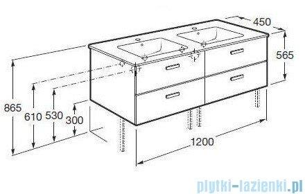 Roca Victoria Basic Zestaw łazienkowy Unik szafka z umywalką 120cm biały połysk A855850806