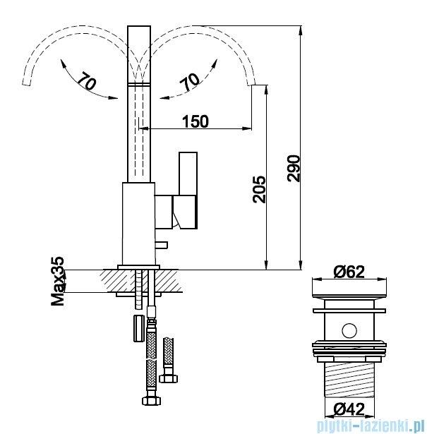 Kohlman Dexame bateria umywalkowa QB150D
