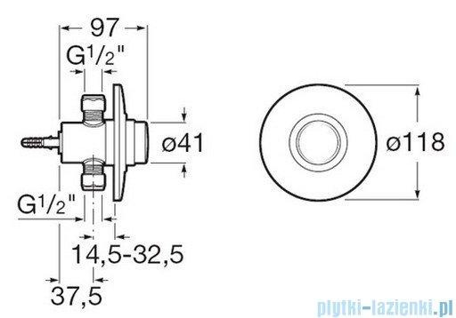 Roca Sprint-N Zawór ciśnieniowy do pisuaru podtynkowy chrom A5A9024C00