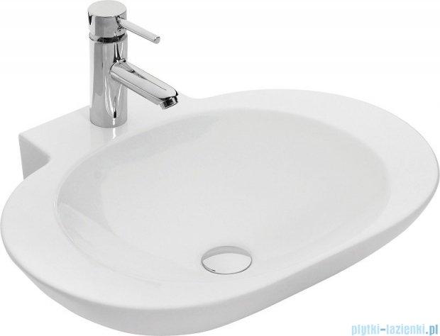 Antado Susanne szafka z umywalką Mia biała/blat brąz 95x46cm AS-140/95-WS+AS-B/1-140/95-70+UCS-TC-60