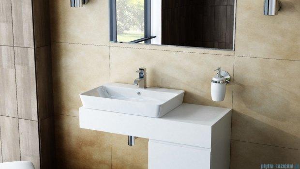 Antado Combi szafka prawa z blatem lewym i umywalką Bali biały/ciemne drewno ALT-141/45-R-WS/dp+ALT-B/2L-1000x450x150-WS+UCS-TC-65