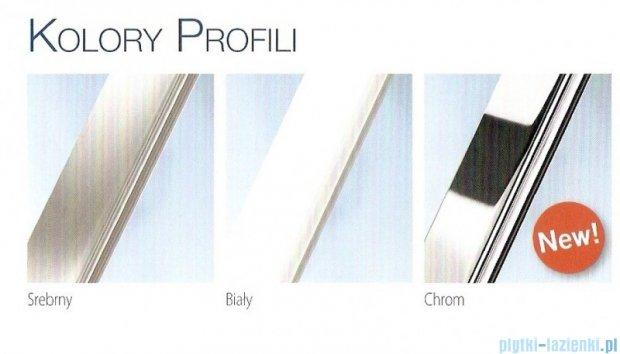 Novellini Parawan wannowy AURORA 8 do wanny UNA 98x150cm profil srebrny szkło przezroczyste AURORA8-1B