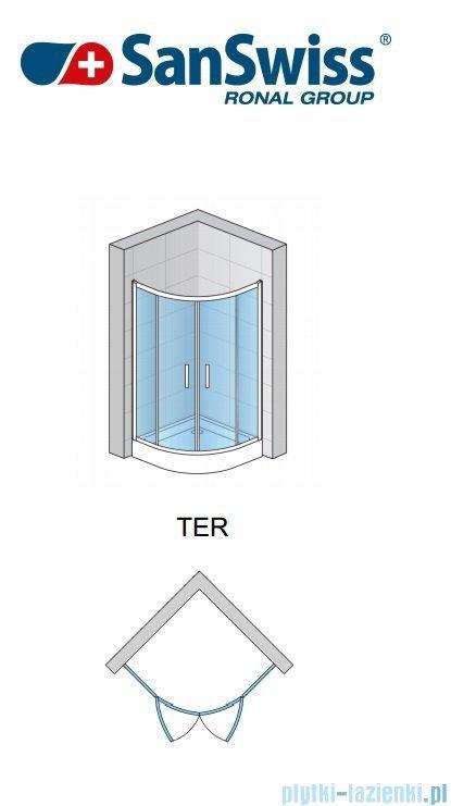 SanSwiss Top-Line Ter Kabina półokrągła 90cm profil biały TER500900407