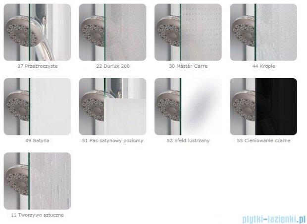 SanSwiss Top-Line TOPS3 Drzwi 3-częściowe 80cm profil biały TOPS308000407