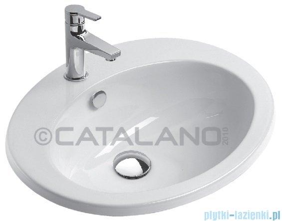 Catalano Incasso 61 umywalka wpuszczana w blat 61x51 cm biała 1JOIN00