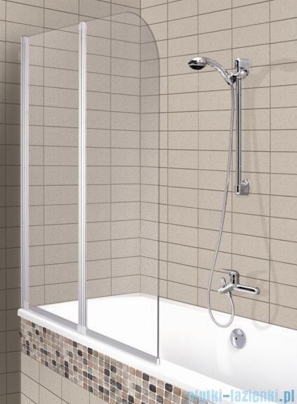 Aquaform Modern 2 parawan nawannowy 81x140cm szkło przejrzyste profil biały 06965