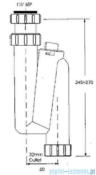McAlpine Syfon umywalkowy pionowy rurowy biały HC3