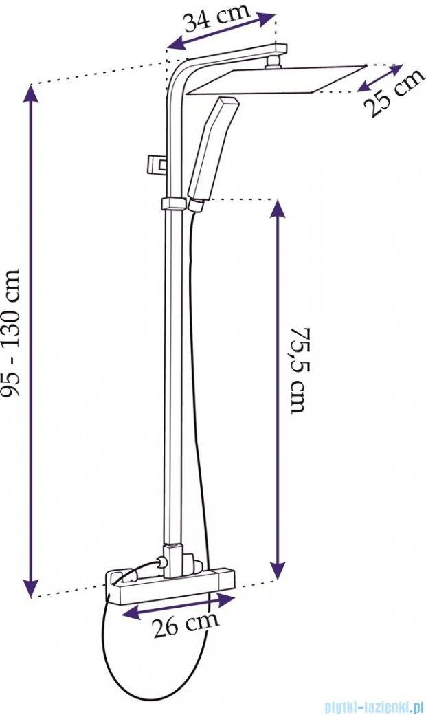Rea zestaw natryskowy z termostatem chrom Fizz Termostat