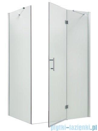 Omnires Manhattan kabina prostokątna 80x120x195cm szkło przejrzyste + brodzik ADC82XLUX-T/3.069