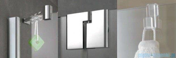 Kermi Pasa XP Parawan nawannowy z pole stałym, lewy, szkło przezroczyste, profil srebro połysk 90x150 PXDTL09015VAK