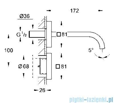 Grohe Allure E elektroniczna bateria do montażu podtynkowego 36235000