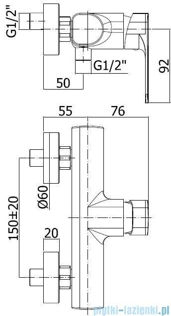Paffoni Sly Bateria natryskowa chrom SY168CR