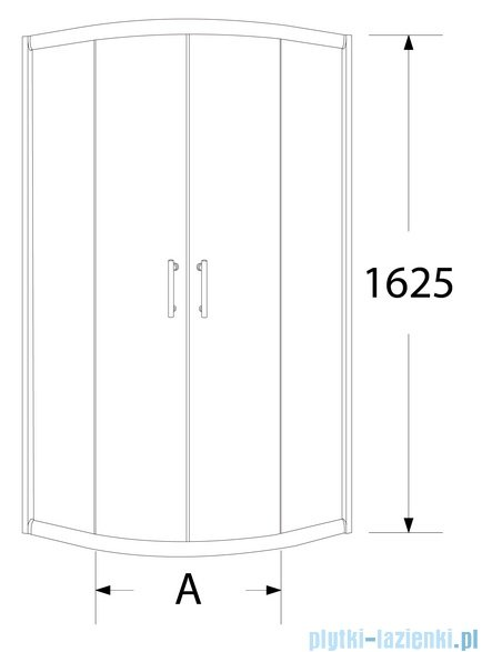 Sea Horse Sigma kabina natryskowa półokrągła - niska, 90x90, szkło: brązowe A2 + brodzik BKZ2/3/KB/A2/