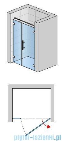 SanSwiss PUR PU31 Drzwi prawe wymiary specjalne do 160cm przejrzyste PU31DSM21007